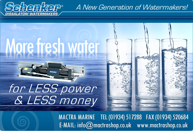 Schenker Watermakers - More fresh water for less power and less money