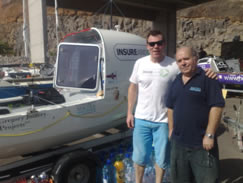 Solo Rower Charlie Pitcher and Jim Macdonald from Mactra Marine Equipment